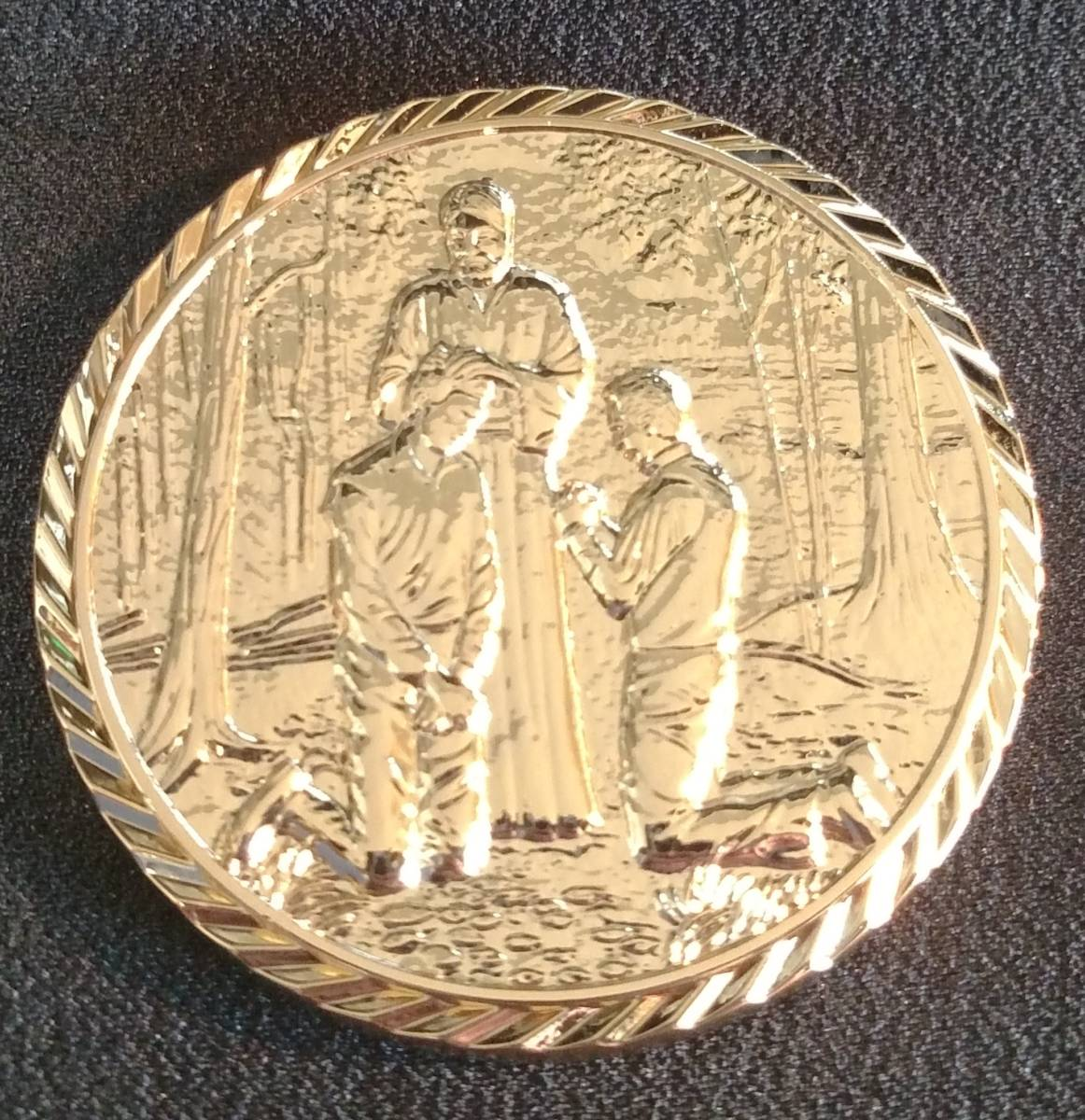 Duty To God Medallion With Display Box For Young Men
