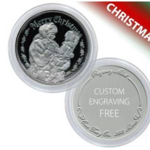 Silver Coin for New Baby - Personalized Baby Coin  999 Silver